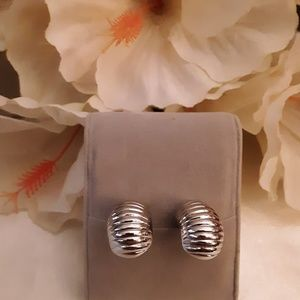 ANTIQUE SILVER 1/2 SHRIMP EARRINGS